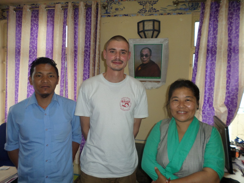 With Tibetan Health Department representatives