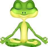 Dessin yoga grenouille